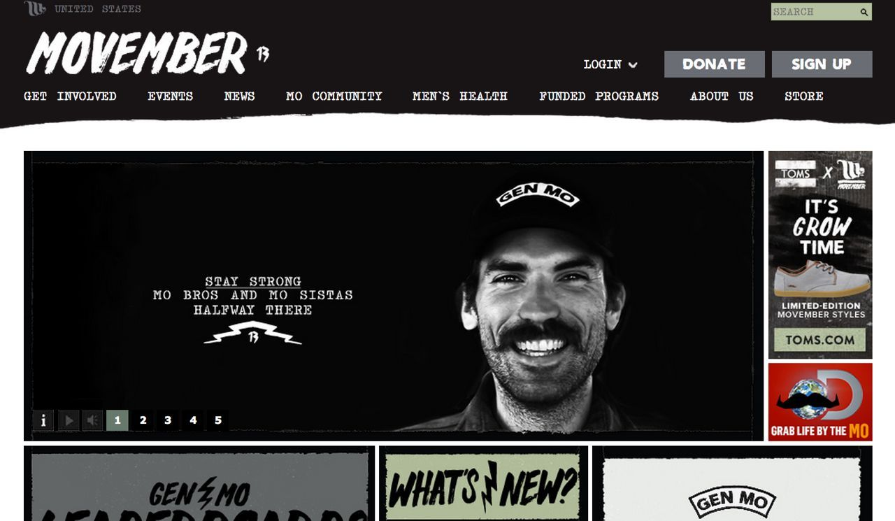 Movember-website